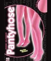 Carnavalskleding roze glitter panty denier roosendaal