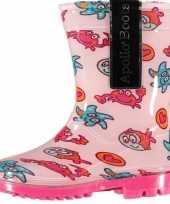 Carnavalskleding roze peuter regenlaarzen zeedieren roosendaal