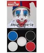 Carnavalskleding schmink set horror clown kleuren roosendaal