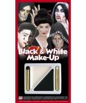 Carnavalskleding schmink setje zwart wit roosendaal