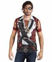 Carnavalskleding shirt piraat opdruk roosendaal