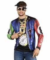 Carnavalskleding shirt rapper opdruk roosendaal