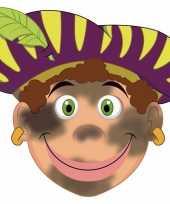 Carnavalskleding sinterklaas kartonnen roetveeg pieten masker kinderen roosendaal 10096320