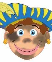 Carnavalskleding sinterklaas kartonnen roetveeg pieten masker kinderen roosendaal
