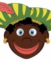 Carnavalskleding sinterklaas kartonnen zwarte pieten masker kinderen roosendaal