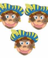 Carnavalskleding sinterklaas roetveeg pieten maskers setje stuks roosendaal