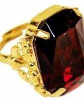 Carnavalskleding sinterklaas verkleed ring goud rood rechthoekig heren roosendaal