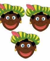 Carnavalskleding sinterklaas zwarte pieten maskers setje stuks roosendaal 10096305