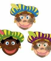 Carnavalskleding sinterklaas zwarte pieten maskers setje stuks roosendaal