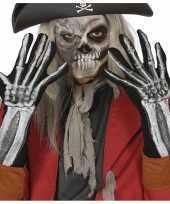 Carnavalskleding skelet horror verkleed handschoenen volwassenen roosendaal