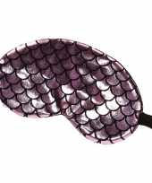 Carnavalskleding slaapmasker oogmasker zeemeermin roze zwart volwassenen roosendaal
