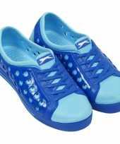 Carnavalskleding slazenger waterschoenen dames kobalt lichtblauw roosendaal