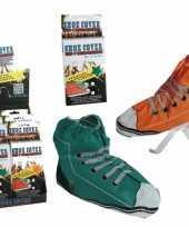 Carnavalskleding sneaker schoenhoezen plastic roosendaal