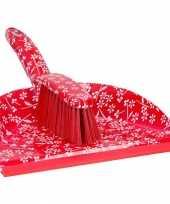Carnavalskleding stoffer blik bloemen print rood roosendaal