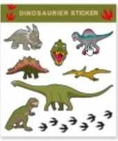 Carnavalskleding tattoo stickers dinosaurussen stuks roosendaal