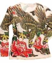 Carnavalskleding tattoo t-shirt dames roosendaal