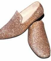 Carnavalskleding toppers gouden glitter pailletten disco instap schoenen heren roosendaal