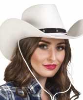 Carnavalskleding toppers witte cowboyhoed wichita dames roosendaal