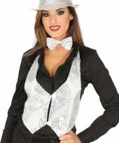 Carnavalskleding toppers witte verkleed gilet pailletten maat dames roosendaal