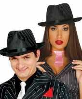 Carnavalskleding trilby hoed krijtstreep volwassenen roosendaal