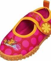 Carnavalskleding uv meisjes waterschoenen roze bloem roosendaal