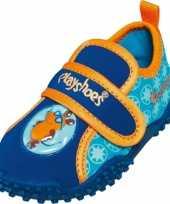 Carnavalskleding uv waterschoenen blauw jongens roosendaal