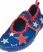 Carnavalskleding uv waterschoenen blauw ster kinderen roosendaal