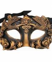 Carnavalskleding venetiaans barok oogmasker zwart brons roosendaal