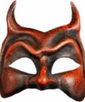 Carnavalskleding venetiaanse rode duivel masker roosendaal