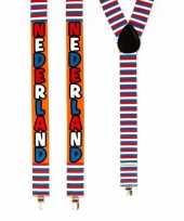 Carnavalskleding verkleed bretels nederland rood wit blauw roosendaal