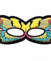 Carnavalskleding vlinder oogmasker gele zwaluwstaart kinderen roosendaal