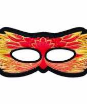 Carnavalskleding vuurvogel oogmasker rood geel kinderen roosendaal