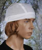 Carnavalskleding wit gekleurde bandana uni roosendaal