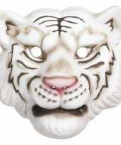 Carnavalskleding witte tijger kindermasker foam roosendaal