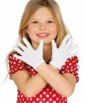 Carnavalskleding witte verkleed handschoenen kinderen roosendaal