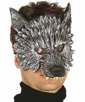 Carnavalskleding wolf wolven horror masker foam roosendaal