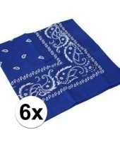 Carnavalskleding x blauwe boeren zakdoeken roosendaal