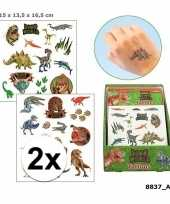 Carnavalskleding x dinosaurus plak tattoos jongens dino world roosendaal
