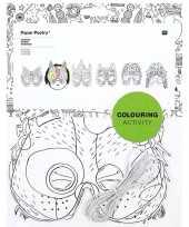 Carnavalskleding x knutsel papieren maskers om te kleuren kinderen roosendaal