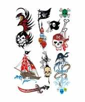 Carnavalskleding x piraten thema plak tattoo stickers roosendaal 10143300