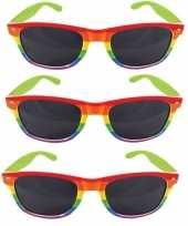 Carnavalskleding x regenboog feest brillen volwassenen roosendaal 10157866