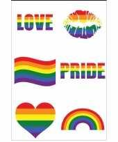 Carnavalskleding x regenboog pride kleuren plak tattoos roosendaal
