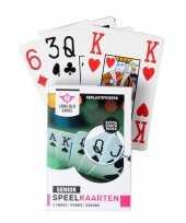 Carnavalskleding x senior speelkaarten plastic poker bridge kaartspel roosendaal
