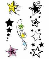Carnavalskleding x velltjes sterren tattoos stuks per vel roosendaal