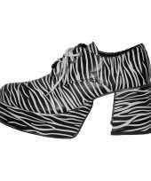 Carnavalskleding zebra schoen plateau zolen roosendaal