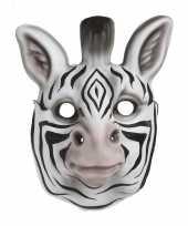 Carnavalskleding zebra verkleed dierenmasker kinderen roosendaal