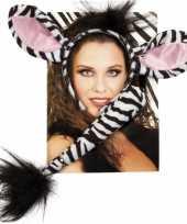 Carnavalskleding zebra verkleed setje roosendaal