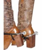 Carnavalskleding zilveren cowboy sporen roosendaal