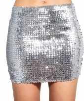 Carnavalskleding zilveren glitter pailletten disco rokje dames roosendaal