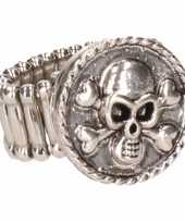 Carnavalskleding zilveren ring doodshoofd chunk roosendaal